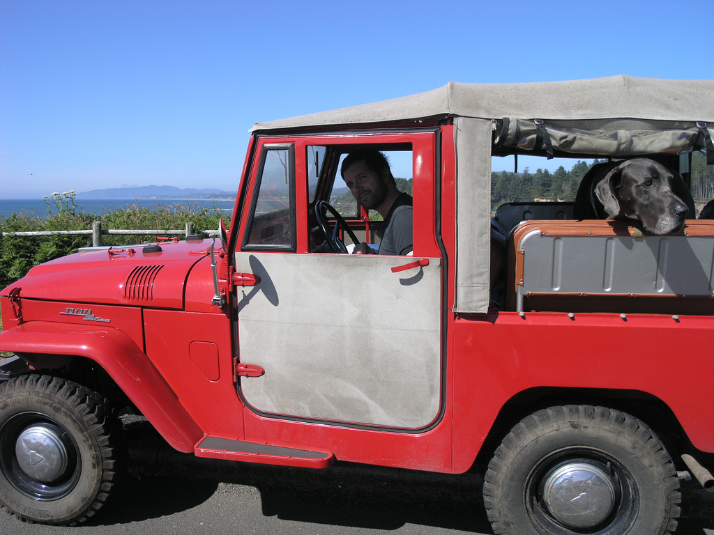 Destin and Moose! 1964 FJ40 Toyota Land Cruiser!