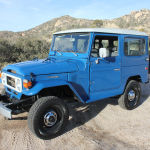 1980 fj40 blue toyota Land Cruiser a